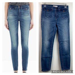 Madewell High riser crop skinny jeans front pocket